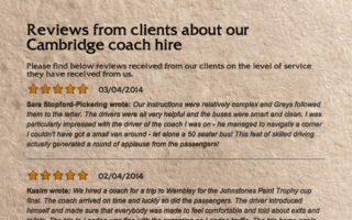 Read our client reviews and gain a valuable insight into why you should book with us.