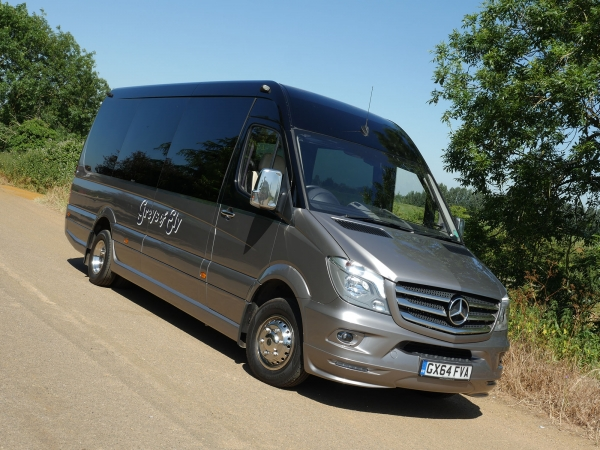 16 Seat Luxury Minibus Hire With Driver Cambridge - Greys of Ely